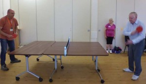 Stretch a net across three tables and Voila! Ping Pong anywhere!