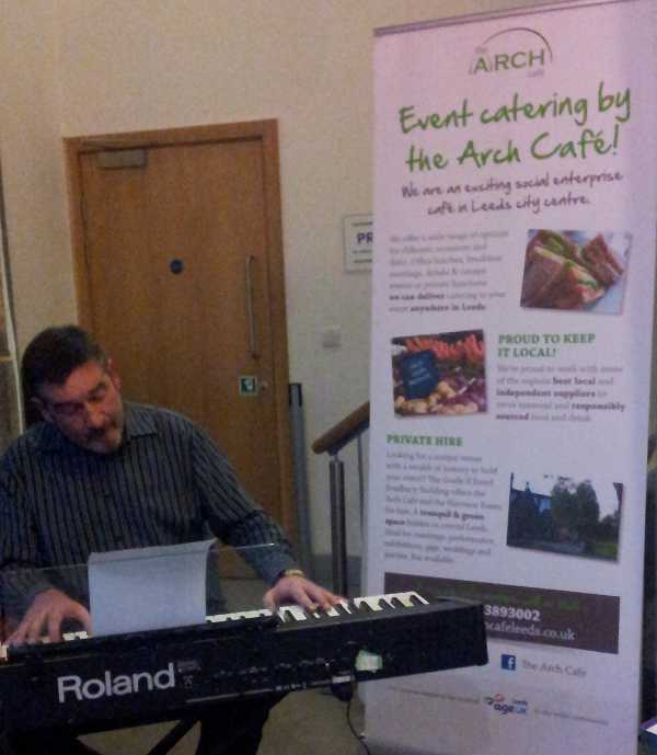John Whalley at the Arch Cafe
