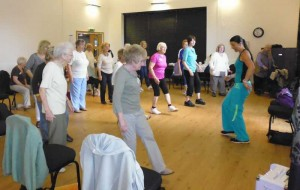A lively round of Zumba Gold, instructed by Donna Waldron