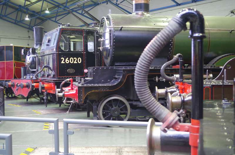 Locomotives round the turntable at the NRM in York