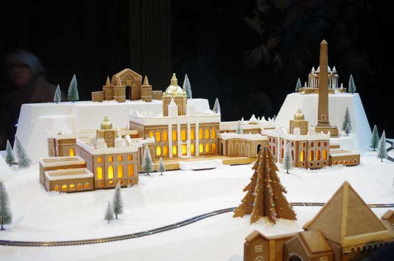 A model of Castle Howard made in gingerbread