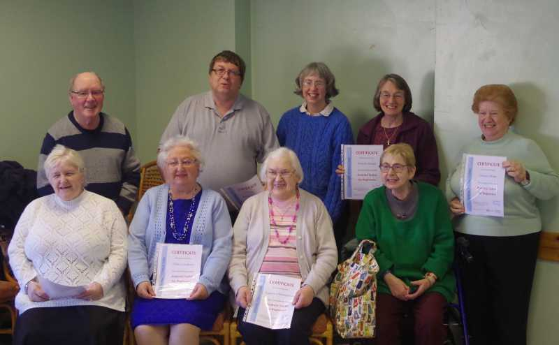 Tablet course participants and tutor
